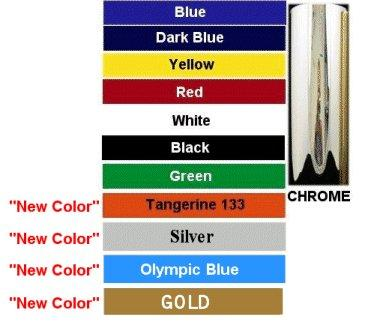Custom Decal Color Chart - GraphicsPlus123.com
