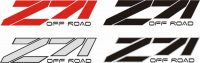 Chevy Z71 Off Road Truck Decals - GraphicsPlus123.com