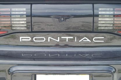 Pontiac Rear Bumper Inlay Decal Close Shot - GraphicsPlus123.com