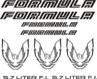1987-90 Firebird Formula Decal SET 9 pieces - GraphicsPlus123.com
