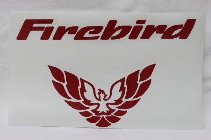 Pontiac Firebird Rear Tail Light Decal 98-02 Style Red Large