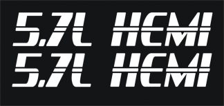 Dodge Hemi 5.7 Liter Hood Decals New Style - GraphicsPlus123.com