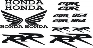 Honda CBR 954 RR Decal Set 2002-06 - GraphicsPlus123.com