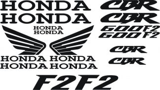 Honda CBR 600F2 Decal Sticker Set Motorcycle 16 Decals - GraphicsPlus123.com