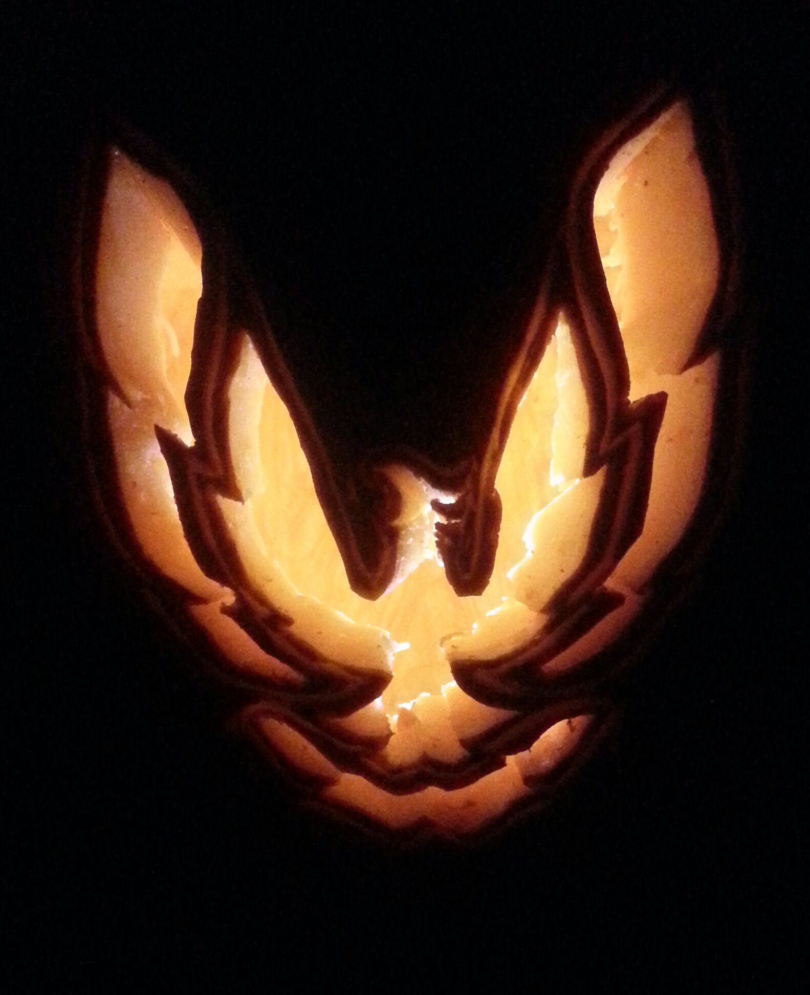 Trans Am Pillar Bird Pumpkin Carving
